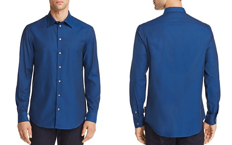 Emporio Armani Micro Dotted Print Regular Fit Button-Down Shirt - Bloomingdale's_2