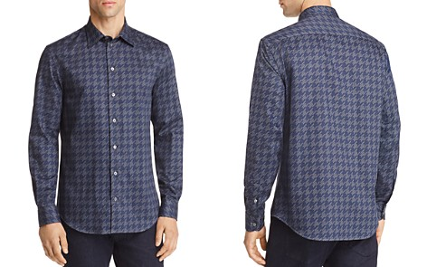 Emporio Armani Houndstooth Print Regular Fit Button-Down Shirt - Bloomingdale's_2