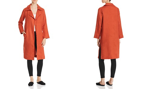 Eileen Fisher Organic Linen Open Trench Coat - Bloomingdale's_2