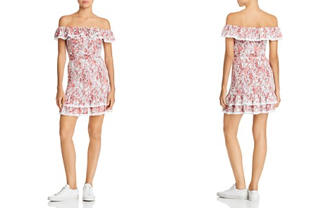 Lost + Wander Sofia Smocked Off-the-Shoulder Mini Dress - Bloomingdale's_2