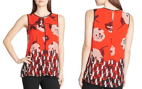 Calvin Klein Mixed-Print Tank - Bloomingdale's_2