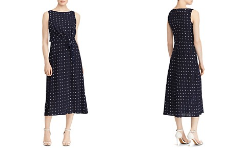 Lauren Ralph Lauren Sleeveless Dot-Print Dress - Bloomingdale's_2