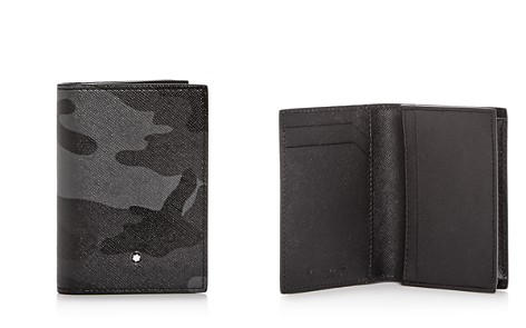 Montblanc Sartorial Camo Print Leather Bi-Fold Card Case - Bloomingdale's_2