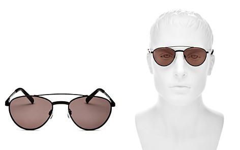 Le Specs Rocket Man Brow Bar Round Sunglasses, 56mm - Bloomingdale's_2