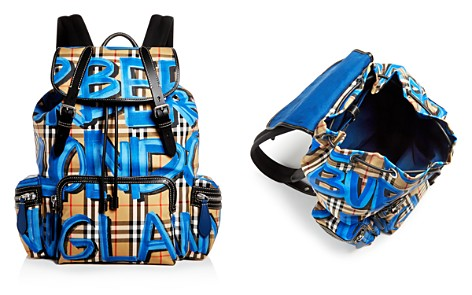 Burberry Graffiti Logo Print Vintage Check Backpack - Bloomingdale's_2