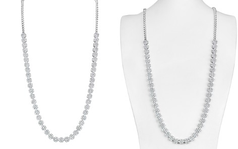Bloomingdale's Diamond Flower Necklace in 14K White Gold, 6.4 ct. t.w. - 100% Exclusive_2
