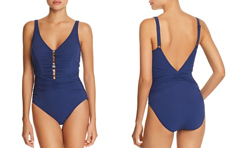 Profile by Gottex Murano V-Neck One Piece Swimsuit - Bloomingdale's_2