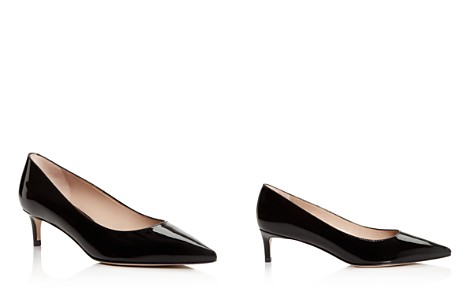 Stuart Weitzman Women's Leigh 45 Patent Leather Kitten Heel Pumps - Bloomingdale's_2