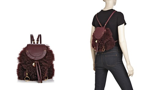 See by Chloé Olga Small Lamb Fur & Leather Backpack - Bloomingdale's_2