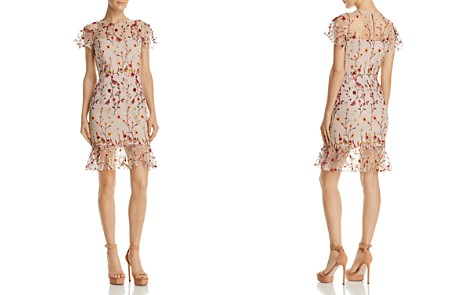 AQUA Butterfly Floral Embroidered Dress - 100% Exclusive - Bloomingdale's_2