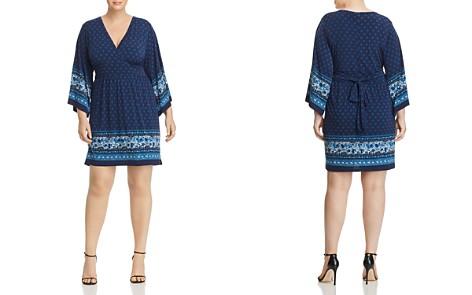MICHAEL Michael Kors Plus Batik Border Print V-Neck Dress - Bloomingdale's_2