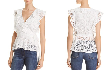 Lucy Paris Ruffled Lace Wrap Top - Bloomingdale's_2