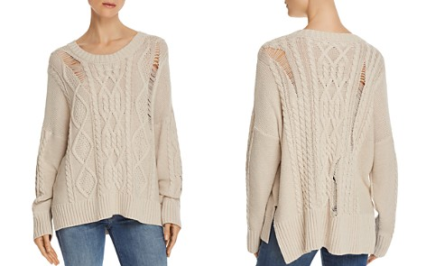 Rails Cambria Distressed Aran-Knit Sweater - Bloomingdale's_2