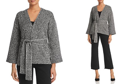 Eileen Fisher Petites Belted Organic-Cotton Jacket - Bloomingdale's_2