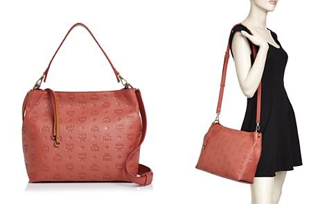 MCM Klara Monogrammed Medium Leather Hobo - Bloomingdale's_2