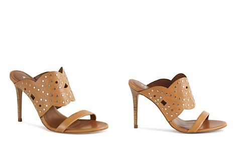 REISS Women's Lasa Studded High Heel Leather Slide Sandals - Bloomingdale's_2