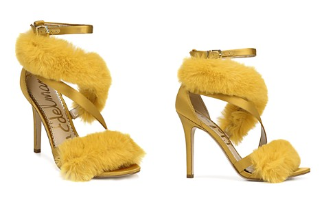 Sam Edelman Adelle Faux Fur Ankle Strap High-Heel Sandals - Bloomingdale's_2