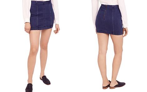 Free People Modern Femme Denim Mini Skirt in Blue - Bloomingdale's_2