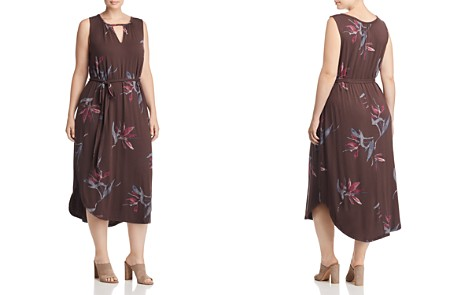 Lucky Brand Plus Printed Keyhole Midi Dress - Bloomingdale's_2
