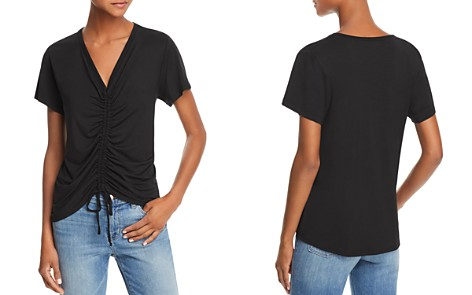 LNA Casey Ruched Drawstring Tee - Bloomingdale's_2
