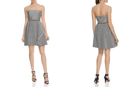 HALSTON HERITAGE Striped Strapless Dress - Bloomingdale's_2