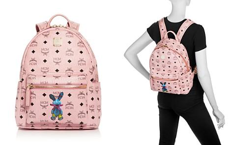 MCM Rabbit Logo Print Small Backpack - Bloomingdale's_2