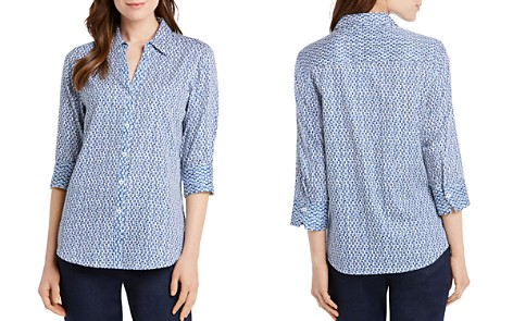 Foxcroft Mary Dotted Button-Down Top - Bloomingdale's_2