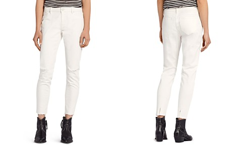 ALLSAINTS Lola Distressed Cropped Skinny Jeans in Chalk White - Bloomingdale's_2