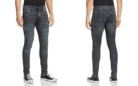 G-STAR RAW Rackam Skinny Fit Moto Jeans in Dark Aged - Bloomingdale's_2