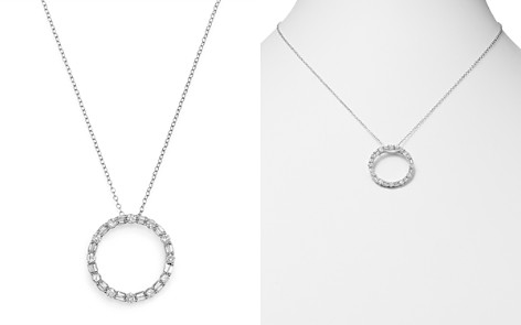 Bloomingdale's Diamond Circle Pendant Necklace in 14K White Gold, 1.0 ct. t.w. - 100% Exclusive_2