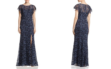 Decode 1.8 Flutter-Sleeve Lace Gown - Bloomingdale's_2