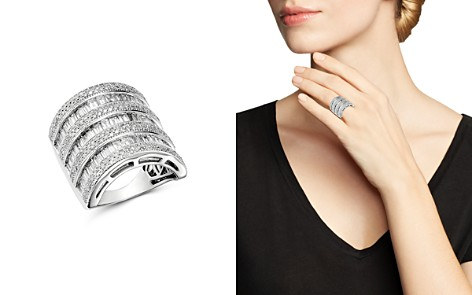 Bloomingdale's Diamond Channel-Set Baguette & Micro Pavé Statement Ring in 14K White Gold, 3.0 ct. t.w. - 100% Exclusive _2