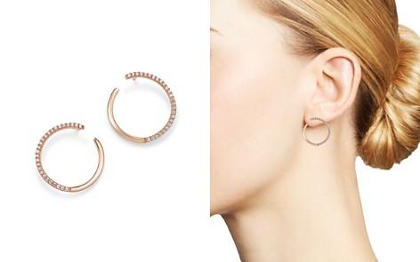 Bloomingdale's Diamond Circle Earrings in 14K Rose Gold, 0.33 ct. t.w. - 100% Exclusive_2