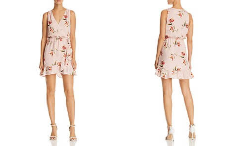 AQUA Floral Print Faux-Wrap Dress - 100% Exclusive - Bloomingdale's_2