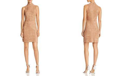 AQUA Scalloped Faux Suede Sheath Dress - 100% Exclusive - Bloomingdale's_2