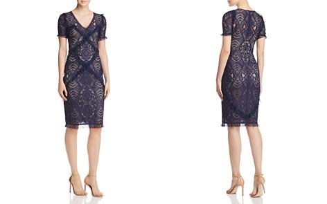 BCBGMAXAZRIA Ruffle-Trimmed Lace Dress - Bloomingdale's_2