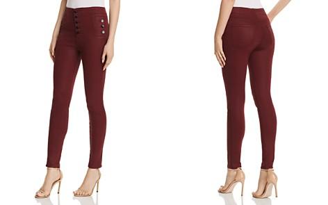 J Brand Natasha Sky High Skinny Jeans in Coated Oxblood - Bloomingdale's_2