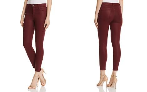 J Brand Alana High Rise Crop Skinny Jeans in Coated Oxblood- Bloomingdale's_2