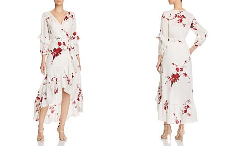 Joie Anawrette Floral Silk Wrap Dress - Bloomingdale's_2