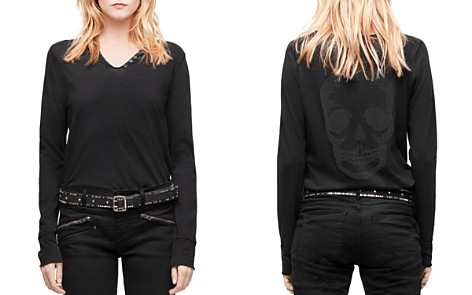 Zadig & Voltaire Strass Embellished Skull Tee - Bloomingdale's_2