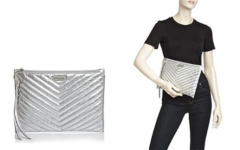 Rebecca Minkoff Metallic Chevron Leather Clutch - Bloomingdale's_2