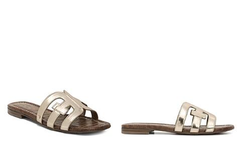 Sam Edelman Women's Bay Metallic Patent Leather Sandals - Bloomingdale's_2
