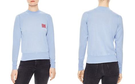 Sandro Espoir Wool Heart-Detail Sweater - Bloomingdale's_2