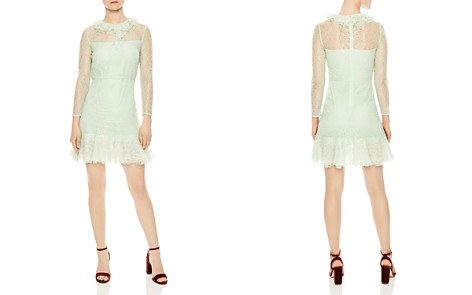 Sandro Haïti Ruffled Sheer Lace A-line Dress - Bloomingdale's_2