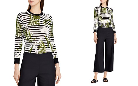 Lauren Ralph Lauren Palm & Stripe Top - Bloomingdale's_2