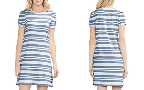 VINCE CAMUTO Puff-Sleeve Striped T-Shirt Dress - Bloomingdale's_2