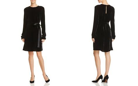 Theory Belted Velvet Dress - Bloomingdale's_2