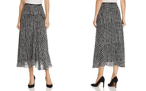 Theory Draped Dot-Print Skirt - Bloomingdale's_2