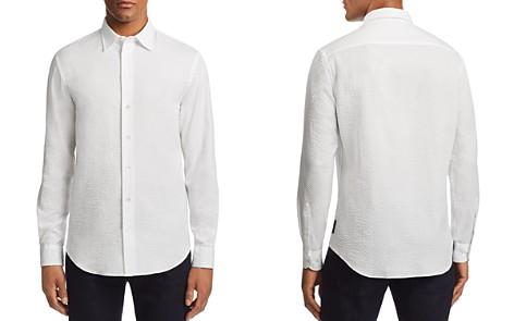 Emporio Armani Metalassé-Textured Regular Fit Sport Shirt - Bloomingdale's_2