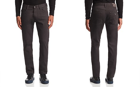 Emporio Armani Straight Fit Jeans in Gray - Bloomingdale's_2